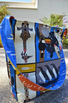FabricWorm: Tutorial | Little One's Library Bag | Featuring Charley Harper Nurture