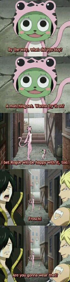 Hahah!,,Rogue-kun was so touched by frosch's gift for him-i bet it suits to him..nyahh>_<