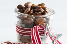 Festive Fare: Smoked paprika almonds recipe, Bite – Easy and inexpensive to make, these smoked paprika almonds can be presented in a jar or little gift box tied with ribbon. A perfect gift this Christmas. Edible Christmas Gifts, Edible Gifts, Almond Recipes, Healthy Recipes, Almond Nut, Christmas Cooking, Smoked Paprika, Vegan Snacks, Tray Bakes