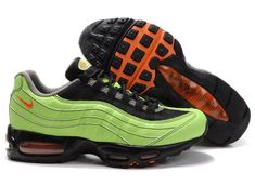 766fd35502096c Cheap Authentic Nike Air Max 95 Mens Premium Trainers Green And Black Shoes  Sale Online Store