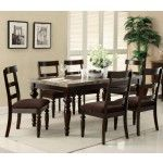 Acme Furniture - Bandele 7 Piece Dining Table Set in Espresso/Chocolate - 70380-7SET