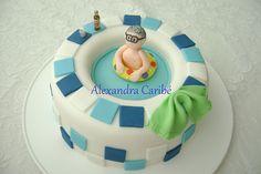 Bolo piscina - swimming pool cake by Alexandra Bolos Artísticos, via Flickr