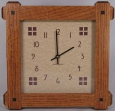 Arts crafts clocks clocks clocks clocks on for Arts and crafts style wall clock