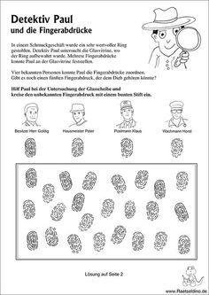 Detektivspiel - Wem gehören die Fingerabdrücke?