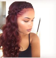 2017 Spring & Summer Hairstyles for Black and African American Women. Top hair trends for the spring and summer season for black women. African Hairstyles, Weave Hairstyles, Summer Hairstyles, Pretty Hairstyles, Black Hairstyles, Black Wedding Hairstyles, 90s Hairstyles, Wine Hair, Curly Hair Styles