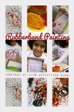 Rubberband Painting is so much fun! Have you tried it??