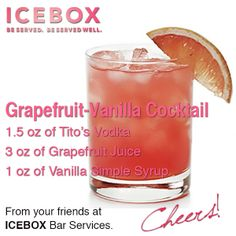 Grapefruit-Vanilla Cocktail - #chas #specialtycocktail #cheers