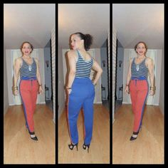 OOTD: Colorblock Pants...Sporty Chic! Wearing this pants has made me jump out of my comfort zone and I love it! To read more about this #LatinaFashionDiary visit www.facebook.com/MadForFashionForLess #latinafashiondiaries #latinafashionblogger #outfitideas #lookforless #FashionOver30 #Glorianne #JustFab #fabshionista #ambsdr #StyleHunters #realoutfitgram @justfabonline