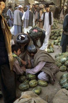 pashtundukhtaree:  A melon vendor at pul-e-khomri, Afghanistan.