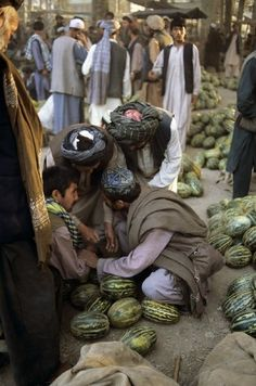 pashtundukhtaree:  A melon vendor at pul-e-khomri, Afghanistan.
