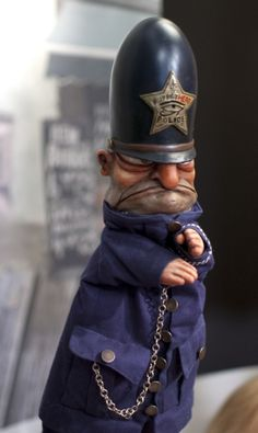 Policeman puppet from a Punch and Judy show