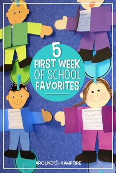 Looking for something a little different for your first week back to school? These 5 first week favorites include fun ideas and books students love for back to school goal setting, all about me math activities, first day writing, getting to know you and your teacher, and fun ideas for a first day of school photo booth!