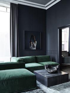 Emerald Green Sofa by Rue Verte