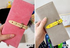 2013 Newest leather wallet women Long Korean cute fashion women dull polish wallet free shipping-inWallets from Luggage & Bags on Aliexpress...