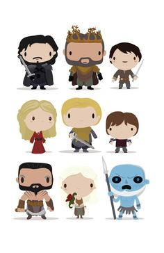 """""""Mini Game of Thrones"""" by mjdaluz Chibi Game of Thrones characters Game Of Thrones Theme, Hbo Game Of Thrones, Chibi Games, Game Of Trones, Got Game, Valar Morghulis, Cute Images, Stickers, Lord Of The Rings"""