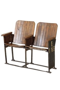 Vintage cinema chairs