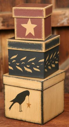 Nesting Boxes - primitive.