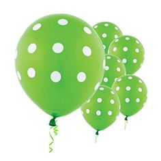 Amscan Polka Dots Printed Latex Balloons 12 Kiwi GreenWhite -- You can get additional details at the image link.  This link participates in Amazon Service LLC Associates Program, a program designed to let participant earn advertising fees by advertising and linking to Amazon.com.