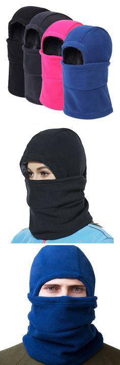 7c07ed3f37e Men Women Warm Head Face Ears Windproof Cap Thickness Fleece Beanies Ski  Outdoor Hats is hot sale on Newchic.