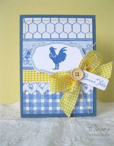French country card-love this color combo