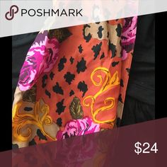 Vintage colorful designer silk scarf, Sale! Rare, silk, colorful pattern! Accessories Scarves & Wraps
