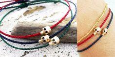 gold skeleton nylon rope for men