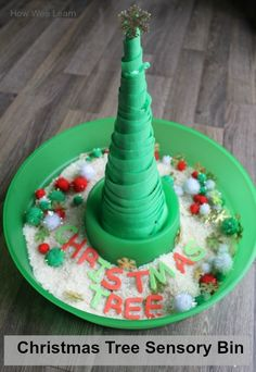 This sticky tree is such a simple and creative addition to any sensory bin!