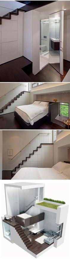 Avec quelques changements : 1 chambre de l'autre côté de l'escalier et pas de sortie ext.