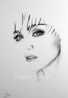 Madonna Fine Art Pencil Drawing Portrait Print by IleanaHunter