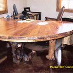 Handmade rustic Pecan desk