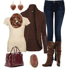 Shades Of Blue Casual Fall Outfit | O u t f i t s | Pinterest ...