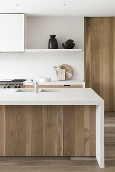 45+ Elegant Contemporary High-End Natural Wood Kitchen Designs #kitchendesign #kitchenideas #kitchendecor