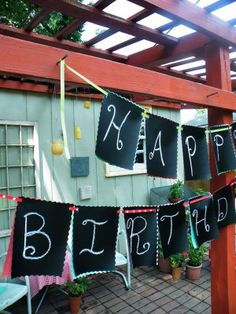 chalk cloth bunting