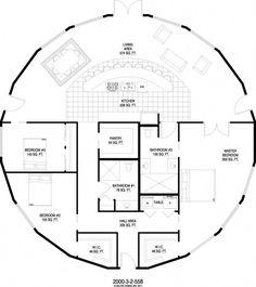 aménagement maison octogonale