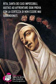 Santa Rita De Cascia, St Rita Of Cascia, Novena Prayers, Madonna, Catholic, Faith, Saints, Christ, Frases