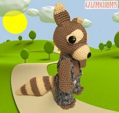 Share & Get All Free Patterns & Tutorials on Doitory - The Directory of Free Patterns & Tutorials Amigurumi Toys, Amigurumi Patterns, Crochet Patterns, Crochet Wolf, Crochet Animals, Stuffed Animal Patterns, Dinosaur Stuffed Animal, Stuffed Animals, Knitting Projects