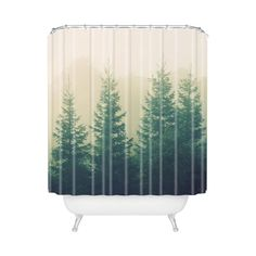 Evergreen Shower Curtain -- turning a bathroom into a rainforest? Yes please.