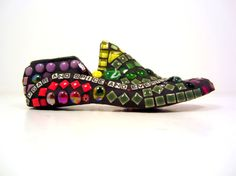"""Mosaic  gift for girls or those who love girlsmosaic by JillsJoy, $150.00- - -a """"shoe-a-holic's dream"""" gift !"""