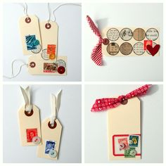tags with stamps