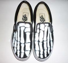 DIY Vans Skeleton Slip-Ons Tutorial.
