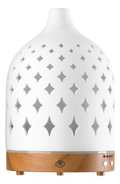 Free shipping and returns on SERENE HOUSE Supernova Electric Aromatherapy Diffuser at Nordstrom.com. A beautifully designed electric aromatherapy diffuser offers a new and sophisticated way to fill your living space with the scents you love—simply add water and the essential oil of your choice, then turn it on. Through a ceramic resonator, the product uses ultrasonic vibrations to turn the fragrant water into mist, dispersing it gracefully into the air. Best of all, it's designed with a built Love Gifts, Best Gifts, Oil Diffuser, Aromatherapy Diffuser, Napa Style, Ceramic Light, Nordstrom Anniversary Sale, Ceramic Decor, Natural Essential Oils