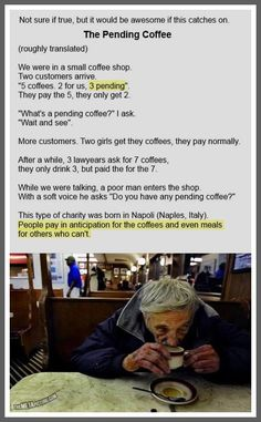What a great idea! If someone i know opens a coffee shop...