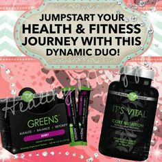 A great way to start any health/fitness journey is to make sure that your body is getting the proper nutrition that it needs! these products together cab get youright on track! IT'S's VITAL CORE NUTRITION Gluten-free, plant-based, whole food complex ☀️Patented controlled-release technology for sustained nourishment throughout the day Mind/body energy blend to stay energized and sharp mentally and physically Improved metabolic support to boost your body's ability to burn calories GR…