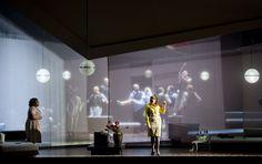Aida from Opernhaus Zürich. Production by Tatjana Gürbaca. Sets and lighting by Klaus Grünberg.