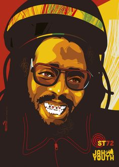Stunning Collection of Portrait Illustrations Reggae Rasta, Rasta Art, Reggae Music, Rastafari Art, Revolution Poster, Bob Marley Art, Reggae Style, Michael Thompson, Reggae Artists