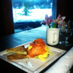 Have you tried at New menu items include this delicious smoked salmon roesti. New Menu, Executive Chef, Menu Items, Whistler, Smoked Salmon, Restaurant, Fresh, Scrambled Eggs, Dishes
