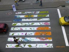 crosswalks as student art projects -- connect with other local universities -- MICA, UM