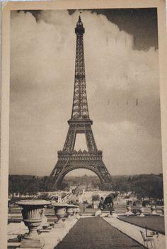 Vintage Eiffel Tower postcard...