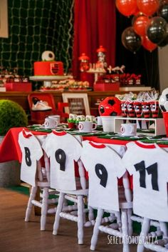 Futebol Sports Themed Birthday Party, Soccer Birthday Parties, Football Birthday, Soccer Party, Soccer Banquet, Sports Party, Soccer Baby Showers, Theme Sport, Party Time