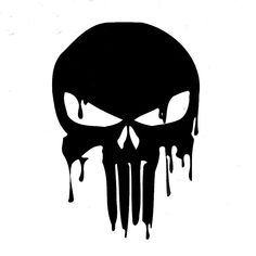 HIGH DETAIL PUNISHER Skull Airbrush Stencil - Free UK Postage - High Detail Punisher Skull Airbrush Stencil - Solvent Proof Transparency FilmSize x Custom designs can be made, please contact me for details. Punisher Tattoo, Logo Punisher, Punisher Symbol, Punisher Skull Decal, Daredevil Punisher, Tatto Skull, Skull Logo, Skull Art, Free Stencils